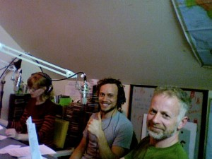 Three members of the on-air book club during the first-ever intro session