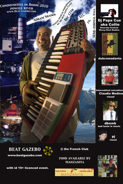 Adham Shaikh & more! Dec 17, 2010: $15 : A Beat Gazebo Production : This is not a CJMP Fundraiser : At the French Club Bon Accueil 19+