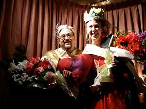 CROWNING ACHIEVEMENT: Aron Strumecki was crowned Queen and Kara Palangio King of the People's Prom on Saturday, February 12. The event was held as a fundraiser by CJMP Powell River Community Radio. Photo by Jason Addy