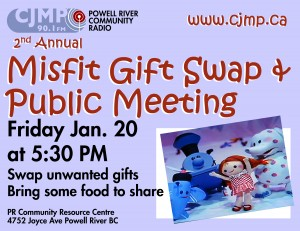 CJMP Public Gathering, Potluck & Misfit Gift Swap… Friday Jan 20th at 5:30PM