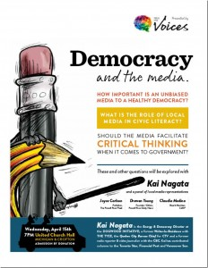 "CJMP at ""Democracy and the media"" event April 15, 2015"